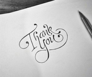 calligraphy, text, and thank you image