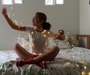 girl, lights, and tumblr image