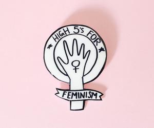 feminism, pink, and feminist image