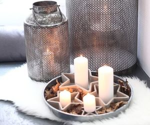 candle, christmas, and decorations image