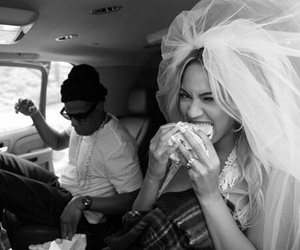 black and white, jay z, and burger image