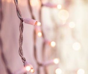 light, pink, and christmas image