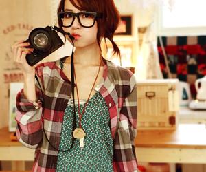 girl, ulzzang, and camera image