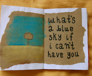 quote, blue, and sky image