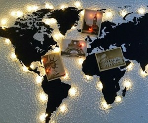 lights, travel, and world image