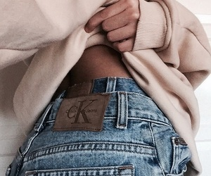 Calvin Klein, denim, and fall image