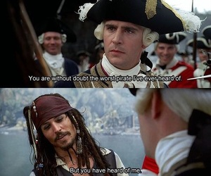 pirate, johnny depp, and jack sparrow image