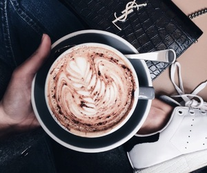 coffee, latte, and YSL image