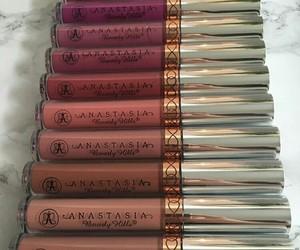 makeup, anastasia, and lipstick image