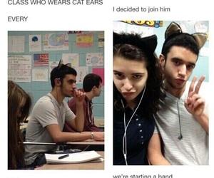 band, kid, and school image