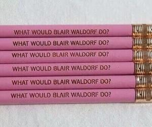 pink, gossip girl, and blair waldorf image