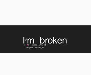 broken, انكسار, and telegram : @mmu_a7 image