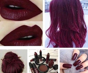 nails, hair, and color image