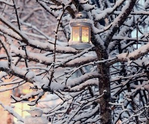 candle and snow image