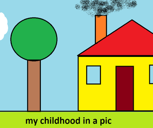childhood, paint, and 2000's image
