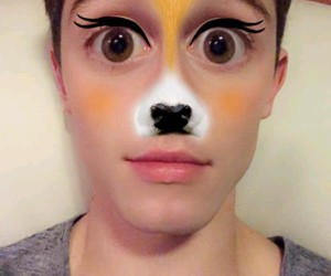 deer, filter, and snapchat image