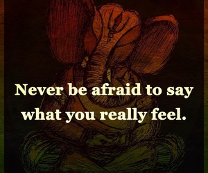 afraid, feel, and quote image