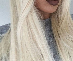 hair, lips, and blonde image
