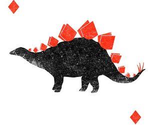 dinosaur, animal, and art image
