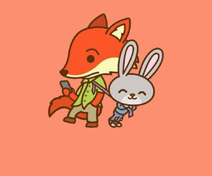fox, 🐰, and 🐇 image
