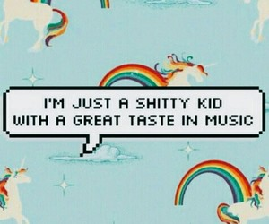 music, unicorn, and kids image
