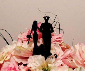 bride, wedding cake topper, and cake topper image