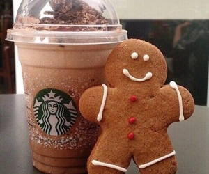 starbucks, christmas, and food image