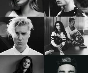 celebrities, selena gomez, and justin bieber image