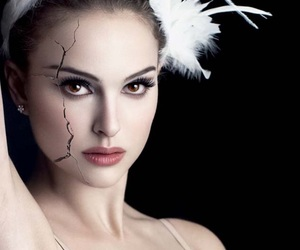 girl, black and white, and black swan image