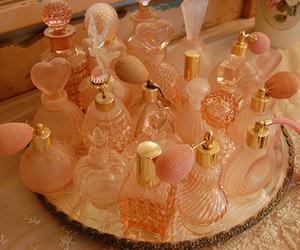 perfume, pink, and vintage image