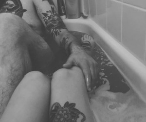 aesthetic, black and white, and couples image