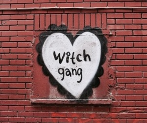 witch, gang, and wall image