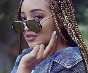 black, glasses, and girl image