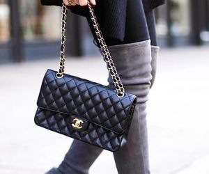 autumn, boots, and chanel image