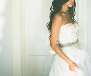 dress, girl, and white image