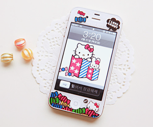 asian, hello kitty, and phone image