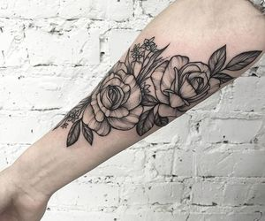 dope, rose, and tattoo image