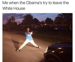me, obama, and white house image