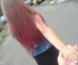 beaty, hair, and red image