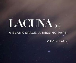 lacuna, latin, and blank space image