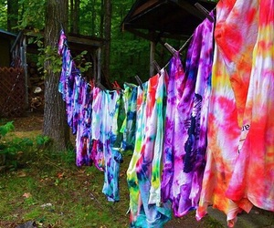 shirt, tie dye, and colors image