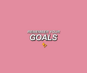 goals, pink, and pastel image