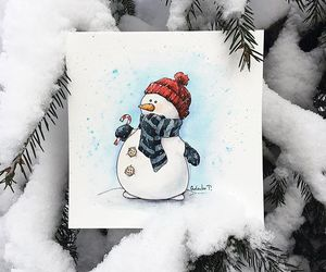 snow, winter, and art image