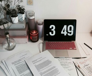 desk, work, and motivation image