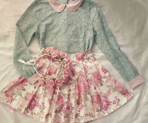 outfit, flowers, and pink image