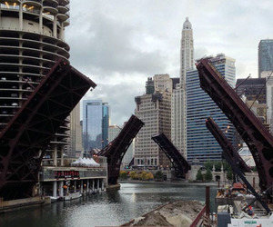 bridge, chicago, and illinois image