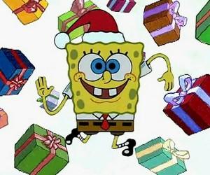 christmas, gifts, and spongebob image