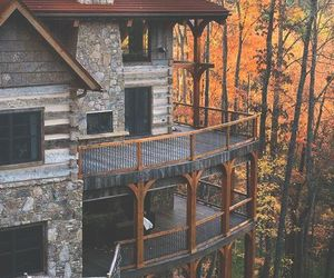 cabin, goals, and house image