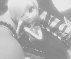 black, pullip, and cute image