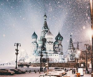 moscow and snow image